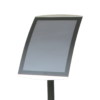 Close view of black free-standing A3 size sign holder