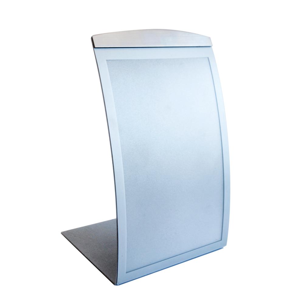 A4 tabletop magnetic sign holder - vertical silver