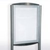 Satellite double sided A3 magnetic free-standing sign silver finish