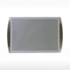 Wall mounted magnetic sign holder - A4 silver - in horizontal position