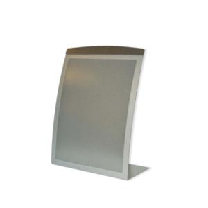 A5 desktop magnetic sign holder - silver vertical