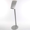 A4 free standing or floor standing Satellite sign holder from DM Graphics in Silver
