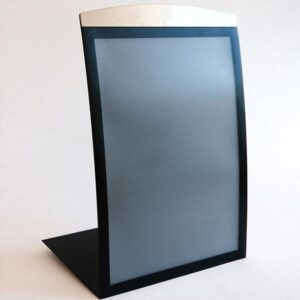A3 size magnetic metal sign-holder in black finish