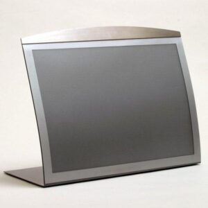 A3 tabletop Satellite magnetic sign-holder in silver finish