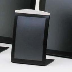 A7 vertical tabletop sign holder or menu holder in black finish